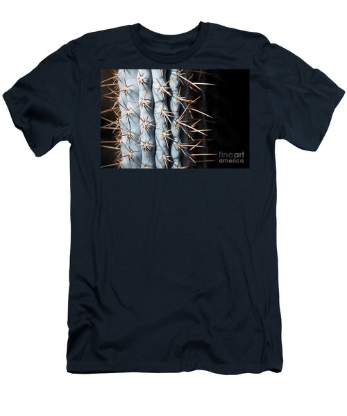 Men's T-Shirt (Athletic Fit) featuring the photograph Blue Cactus by John Wadleigh