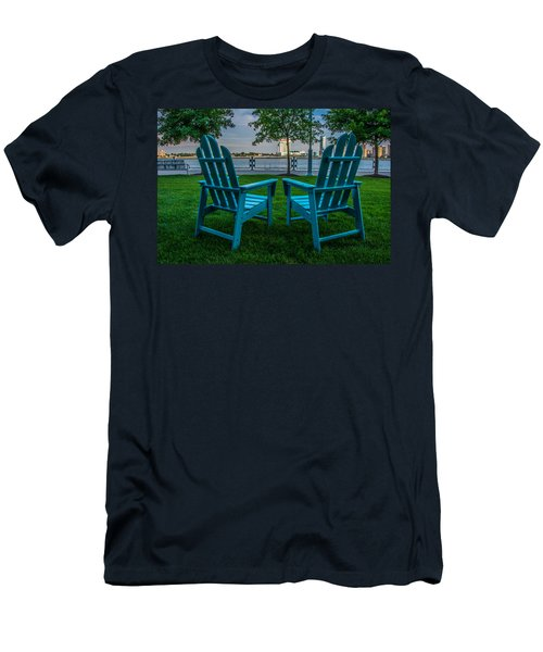 Blue Chairs Men's T-Shirt (Athletic Fit)
