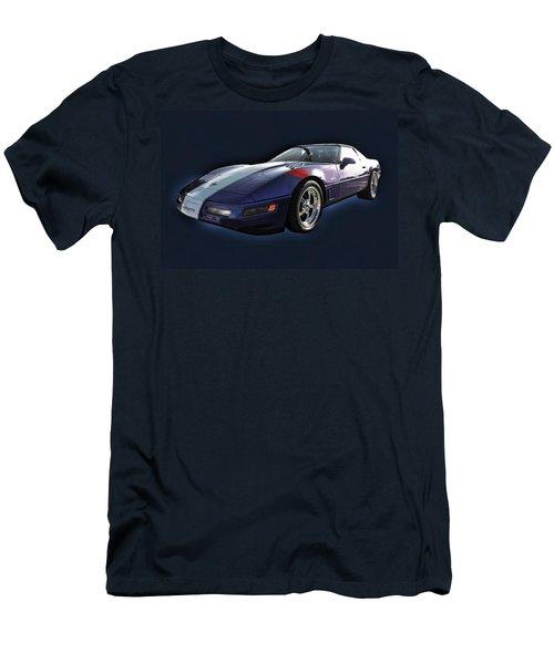 Blue Corvette Car Men's T-Shirt (Athletic Fit)