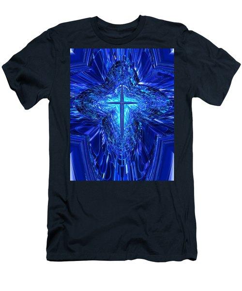 Blue Cross Men's T-Shirt (Athletic Fit)