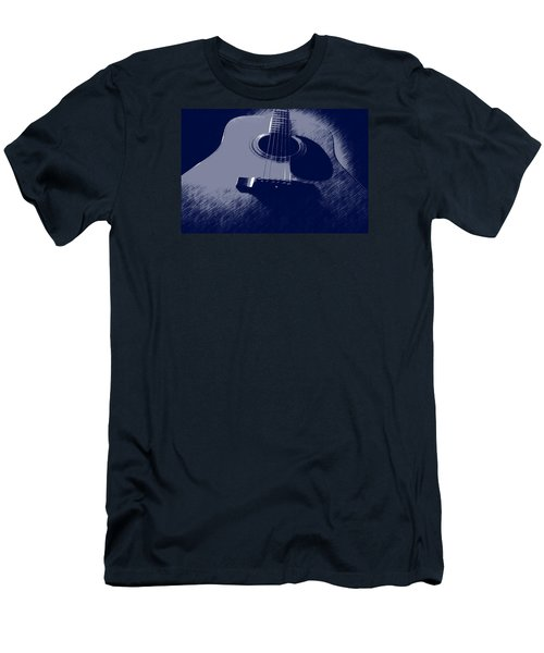 Blue Guitar Men's T-Shirt (Slim Fit) by Photographic Arts And Design Studio