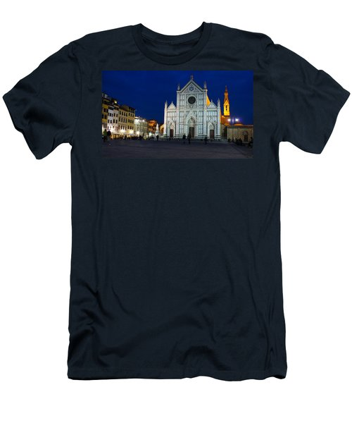 Blue Hour - Santa Croce Church Florence Italy Men's T-Shirt (Athletic Fit)