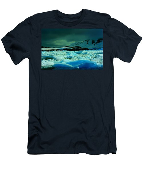 Men's T-Shirt (Slim Fit) featuring the photograph Blue Ice Flow by Amanda Stadther
