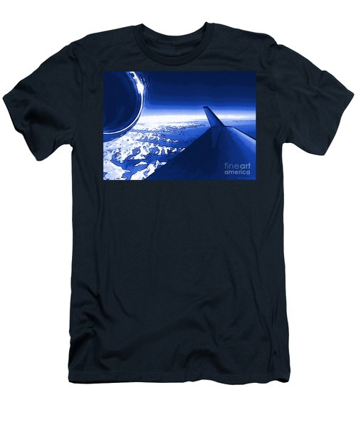Blue Jet Pop Art Plane Men's T-Shirt (Athletic Fit)