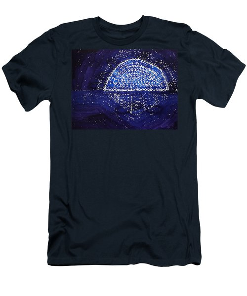 Blue Moonrise Original Painting Men's T-Shirt (Athletic Fit)
