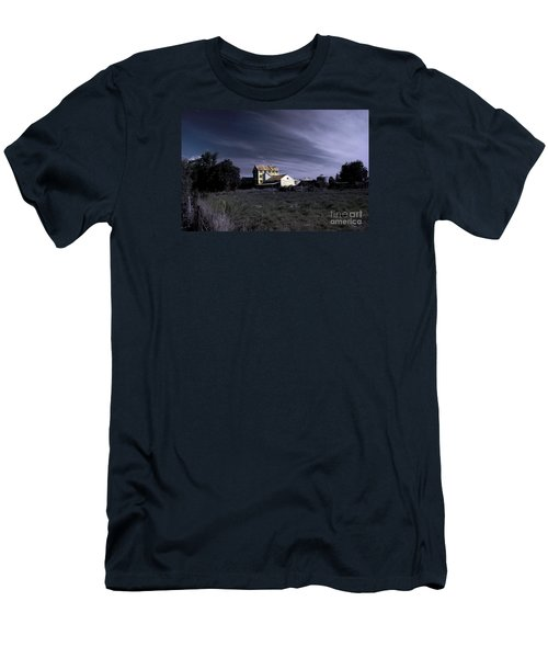 Men's T-Shirt (Slim Fit) featuring the photograph Blue Night by Nareeta Martin