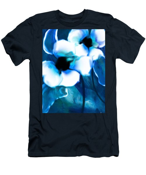 Men's T-Shirt (Slim Fit) featuring the digital art Blue Orchids  by Frank Bright