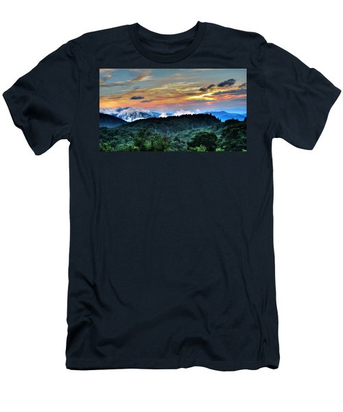 Blue Ridge Mountain Sunrise  Men's T-Shirt (Athletic Fit)