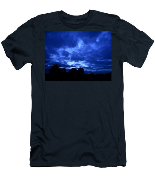 Men's T-Shirt (Slim Fit) featuring the photograph Blue Storm Rising by Mark Blauhoefer