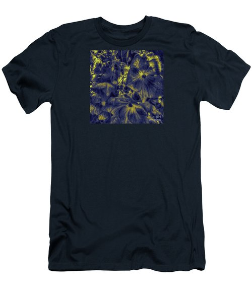 Blue Tango Floral Men's T-Shirt (Athletic Fit)