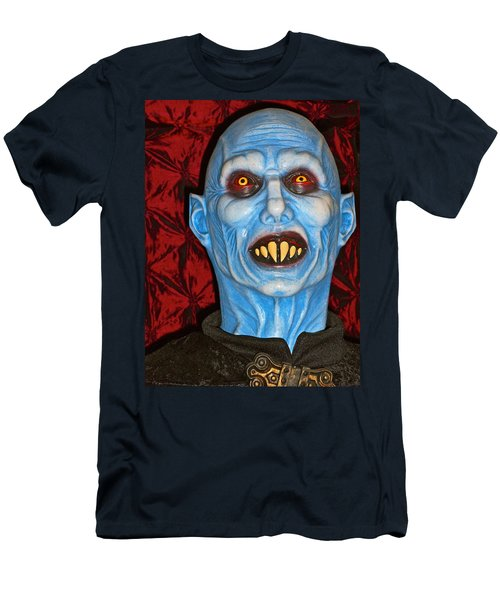 Men's T-Shirt (Slim Fit) featuring the photograph Blue Vampire by Joan Reese