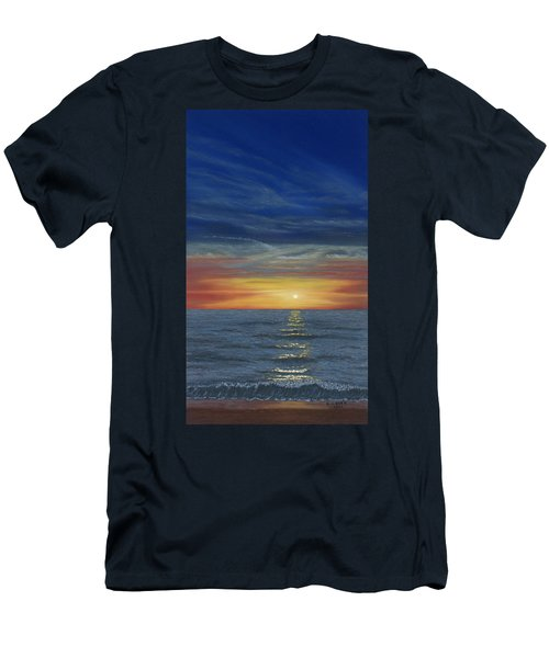 Blueberry Beach Sunset Men's T-Shirt (Athletic Fit)