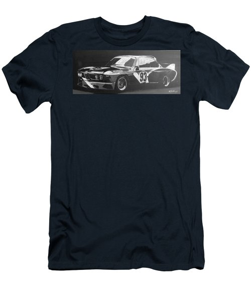Men's T-Shirt (Athletic Fit) featuring the painting Bmw 3.0 Csl Alexander Calder Art Car by Richard Le Page