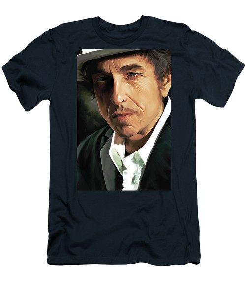 Bob Dylan Artwork Men's T-Shirt (Slim Fit) by Sheraz A