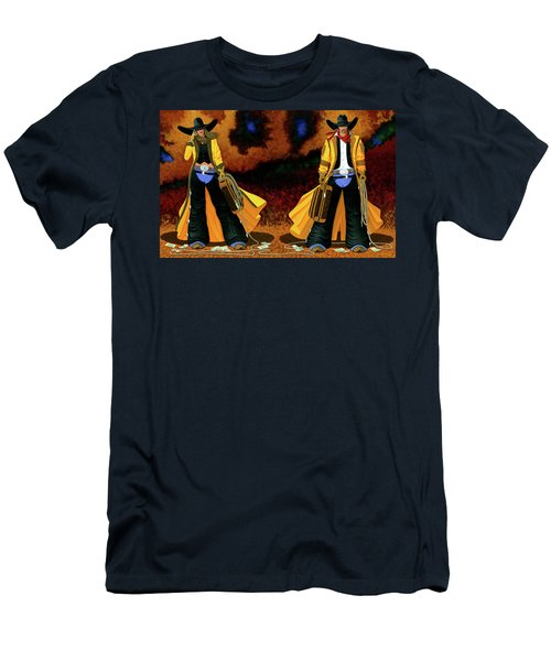 Bonnie And Clyde Men's T-Shirt (Slim Fit) by Lance Headlee