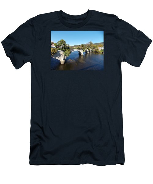 Bridge Of Flowers Men's T-Shirt (Athletic Fit)