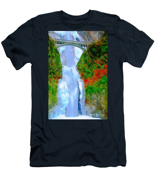 Bridge Over Beautiful Water Men's T-Shirt (Athletic Fit)