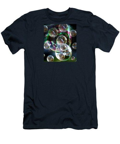 Bubbles And More Bubbles Men's T-Shirt (Athletic Fit)