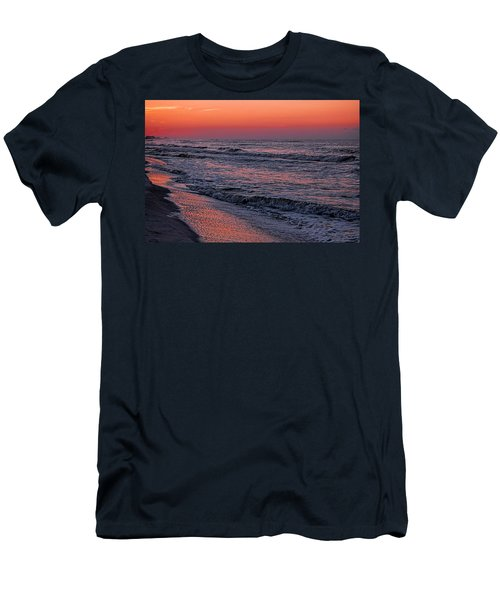 Men's T-Shirt (Slim Fit) featuring the digital art Bubbling Surf by Michael Thomas