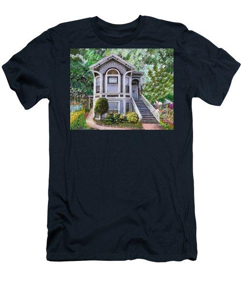 Alameda 1895 Queen Anne Men's T-Shirt (Slim Fit) by Linda Weinstock