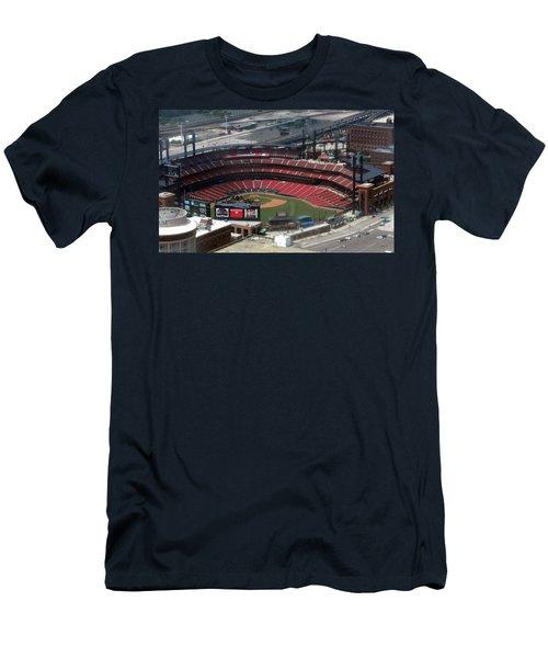 Busch Memorial Stadium Men's T-Shirt (Slim Fit) by Thomas Woolworth