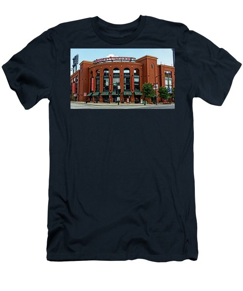 Busch Stadium Home Of The St Louis Cardinals Men's T-Shirt (Slim Fit) by Greg Kluempers