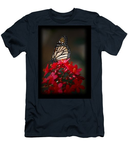 Men's T-Shirt (Slim Fit) featuring the photograph Butterfly 6 by Leticia Latocki
