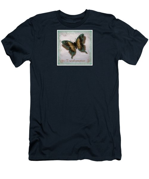 Butterfly Of Transformation Men's T-Shirt (Slim Fit) by Bobbee Rickard