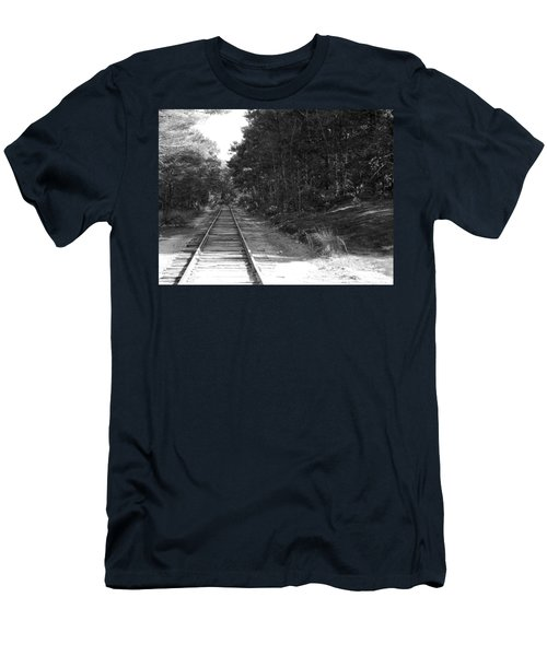 Bw Railroad Track To Somewhere Men's T-Shirt (Athletic Fit)