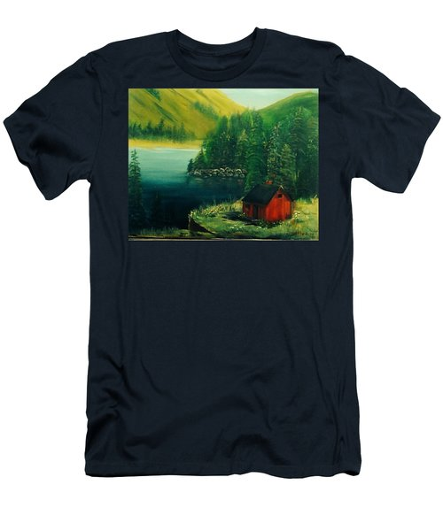 Cabin In The Catskills Men's T-Shirt (Athletic Fit)
