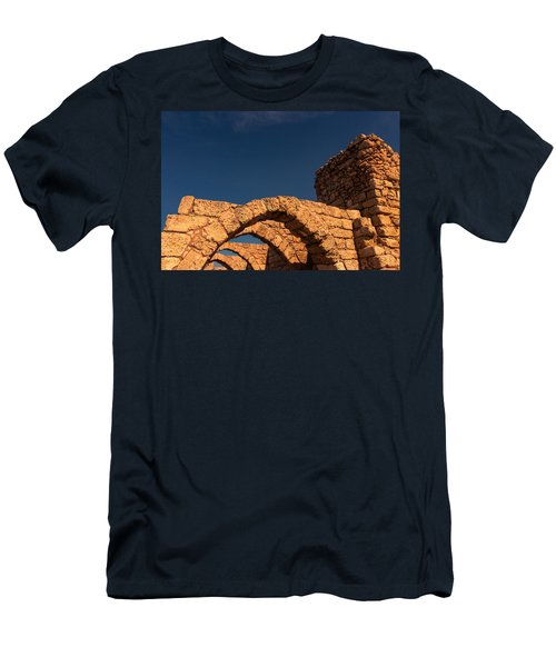 Caesarea Men's T-Shirt (Slim Fit) by David Gleeson
