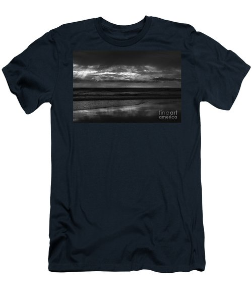 Men's T-Shirt (Slim Fit) featuring the photograph  Cardiff Godrays by John F Tsumas