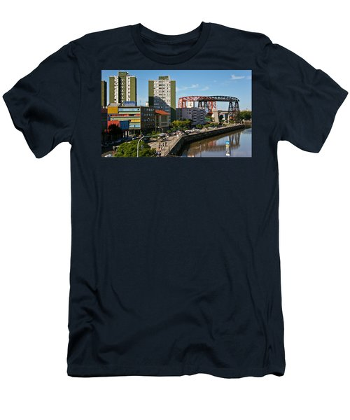 Men's T-Shirt (Slim Fit) featuring the photograph Caminito by Silvia Bruno