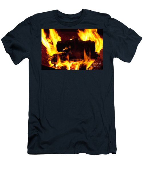 Campfire Burning Men's T-Shirt (Athletic Fit)