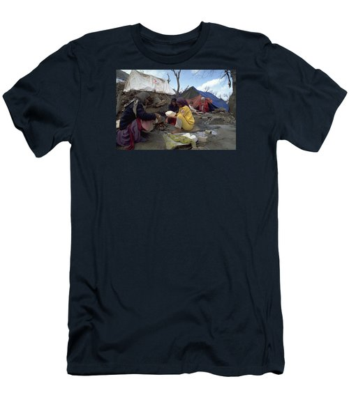 Men's T-Shirt (Slim Fit) featuring the photograph Camping In Iraq by Travel Pics