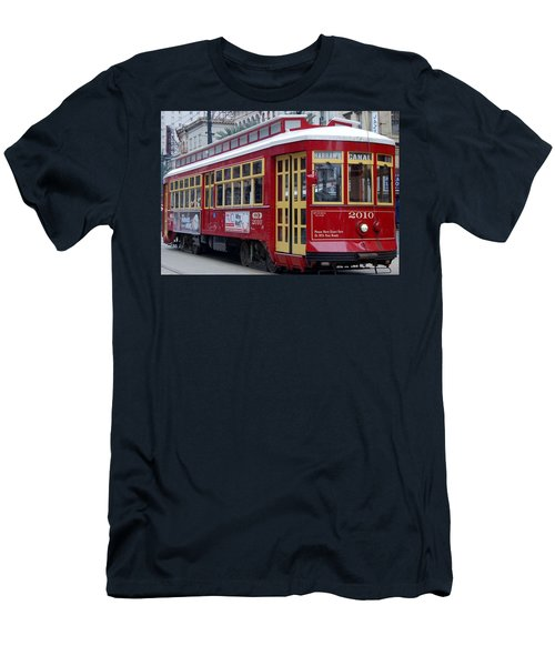 Canal Streetcar Nola Men's T-Shirt (Athletic Fit)