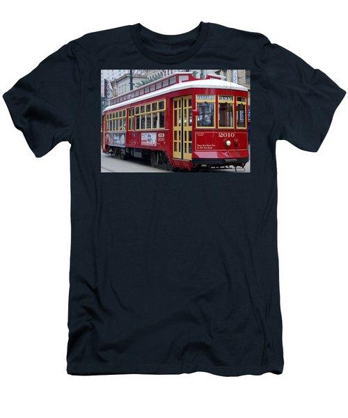 Canal Streetcar Nola Men's T-Shirt (Slim Fit)