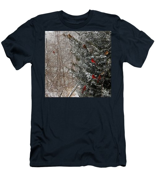 Cardinals In Winter 1 Square Men's T-Shirt (Athletic Fit)