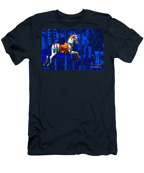Men's T-Shirt (Athletic Fit) featuring the photograph Carousel Horse by Gunter Nezhoda