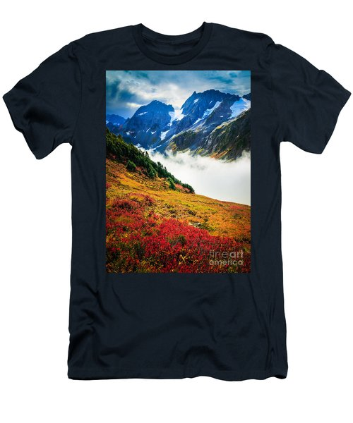 Cascade Pass Peaks Men's T-Shirt (Slim Fit) by Inge Johnsson