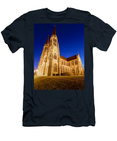 Morning At The Cathedral Of St Helena Men's T-Shirt (Slim Fit) by Fran Riley