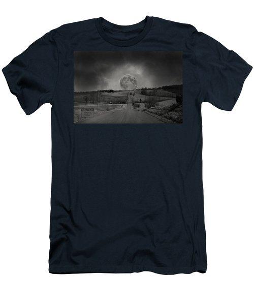 Caution Beautiful Moon Rise Ahead Men's T-Shirt (Athletic Fit)