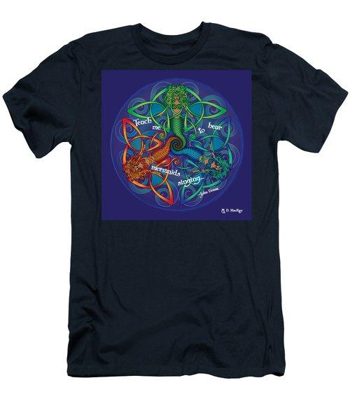Celtic Mermaid Mandala Men's T-Shirt (Athletic Fit)