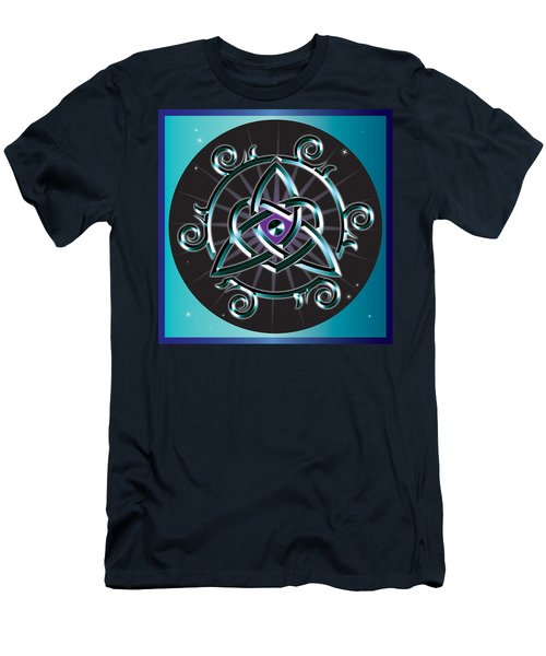 Celtic Triquetra Heart Men's T-Shirt (Athletic Fit)
