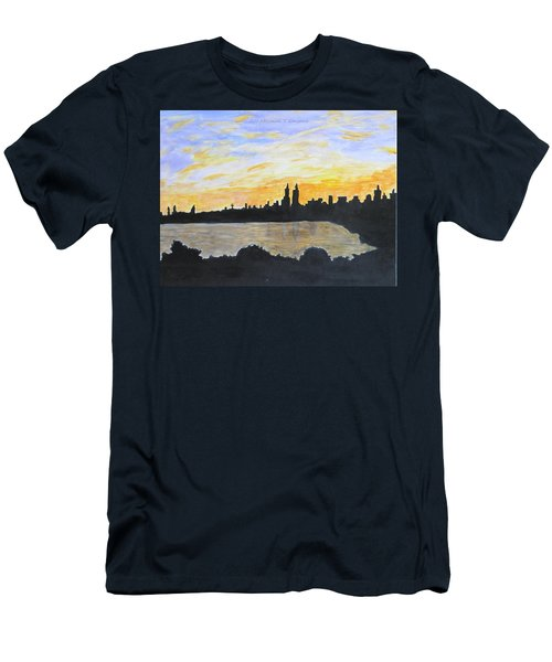 Central Park In Newyork Men's T-Shirt (Athletic Fit)