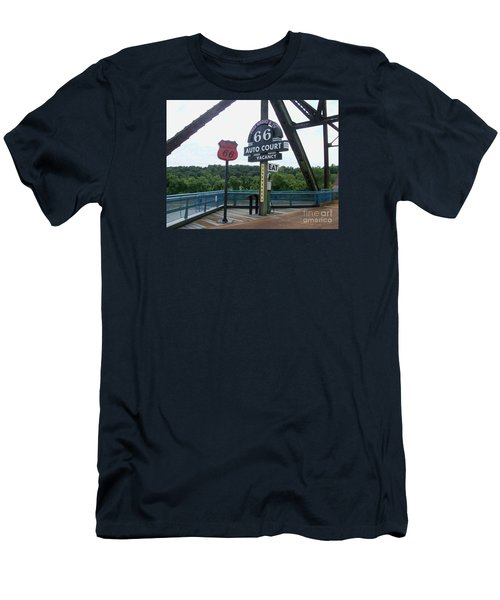 Chain Of Rocks Bridge Men's T-Shirt (Slim Fit) by Kelly Awad