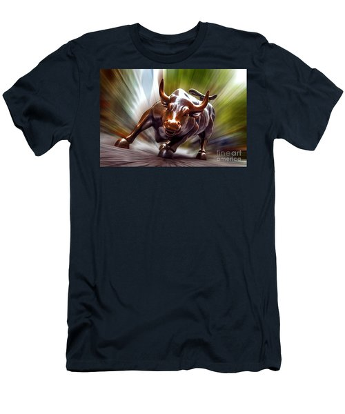 Charging Bull Men's T-Shirt (Athletic Fit)