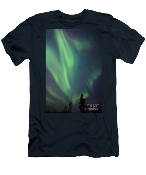 chasing lights II with textures Men's T-Shirt (Athletic Fit)