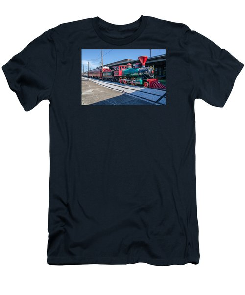 Men's T-Shirt (Slim Fit) featuring the photograph Chattanooga Choo Choo by Susan  McMenamin