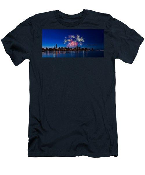 Chicago Lakefront Fireworks Men's T-Shirt (Athletic Fit)